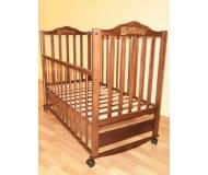 Детская кроватка Sonno П-KR 300 с ящиком Орех