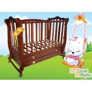 Детская кроватка софа Трия Ксения (Корона) (2 ящика)