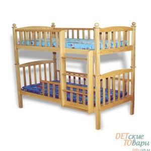 Детская двухъярусная кровать Веселка Тарас (190 х 80 см)