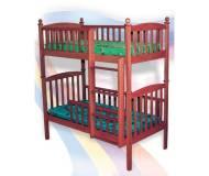 Детская двухъярусная кровать Веселка Тарас (123 х 63 см) Тонированный Орех