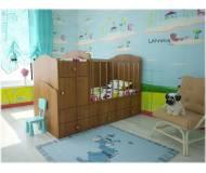 Детская кровать-трансформер Lanami Mila с маятником