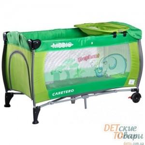 Детская кроватка-манеж Caretero Medio Safari