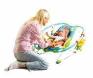 Детское массажное кресло Tiny Love Gymini Bouncer Жители Саванны