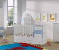 Детская кровать-трансформер Lanami Vesna с маятником