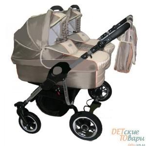 Детская универсальная коляска для двойни 2в1 Tako Jumper Duo