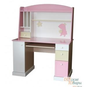 Детский компьютерный стол с надстройкой MyBaby Rose Dreams