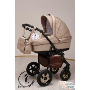 Детская универсальная коляска 2 в 1 Ajax Group Sonet New