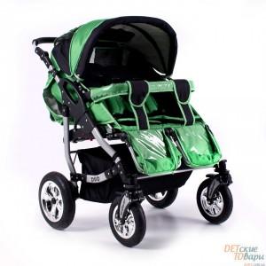 Детская универсальная коляска-трансформер для двойни Adbor Duo (с поворотными колесами)