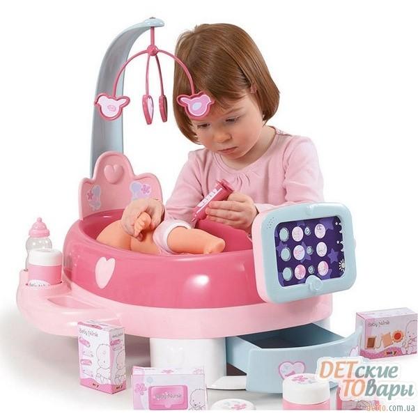 detskiy igrovoy elektronnyytsentr po uhodu za kukloy smoby baby nurse 24223