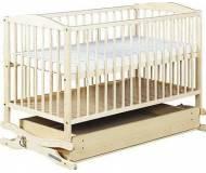 Детская кроватка Klups Radek 2 с ящиком и качанием Белая