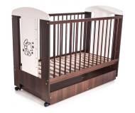Детская кроватка Klups Mis z gwiazdkami (Мишка со звёздочками) с ящиком