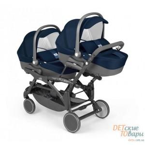 Детская универсальная коляска для двойни 2в1 Cam Twin Pulsar