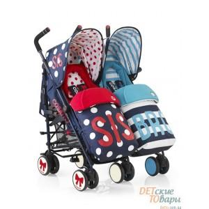 Детская прогулочная коляска для двойни Cosatto Supa Dupa