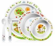 Детский столовый набор посуды Philips Avent с развивающими рисунками SCF716/00.