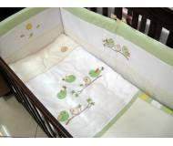 """Детский постельный комплект Veres """"Spring Birdies """" 6 ед"""
