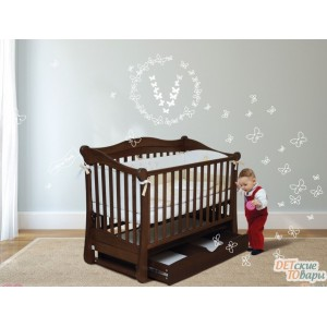 Детская кроватка с маятником Верес Соня ЛД18 (ящик+маятник)