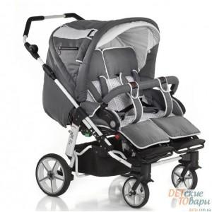 Детская универсальная коляска для двойни 2 в 1 Hartan ZX II