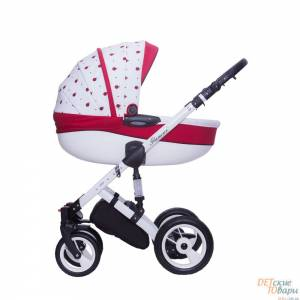 Детская универсальная коляска 3в1 Dada Paradiso Group Glamour Biedronki
