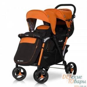 Детская прогулочная коляска для двойни EasyGo Fusion Duo
