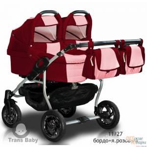 Детская универсальная коляска для двойни 2 в 1 Trans Baby Jumper DUO