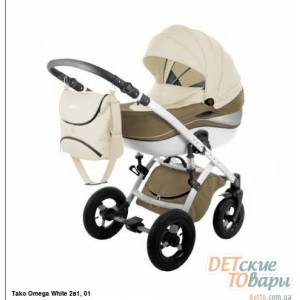 Детская универсальная коляска 2 в 1 Tako Omega White New