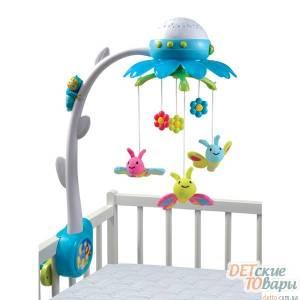 Детский музыкальный мобиль на кроватку Smoby Cotoons Цветочек