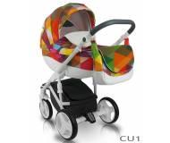 Детская универсальная коляска 2 в 1 Bеха Cube Amo