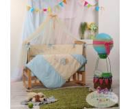 Детский постельный комплект Маленькая соня Авиатор 7 ед