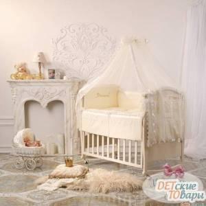 Детский постельный комплект Маленькая соня Маленькая Принцесса Swarovski 6 ед