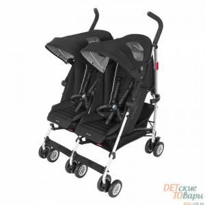 Детская прогулочная коляска для двойни Maclaren BMW Black