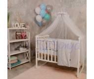 Детский постельный комплект Маленькая Соня Baby Design Premium 7ед.