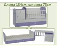 Детская кровать-трансформер Oris Metida Lux