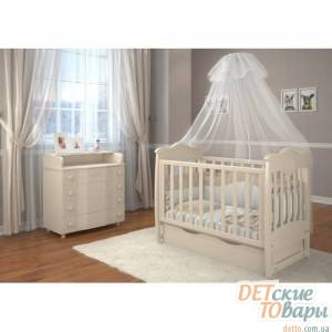 Детская кроватка Angelo Lux-5 маятник/шухляда