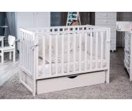 Детская кроватка Twins Pinocchio маятник/ящик белый