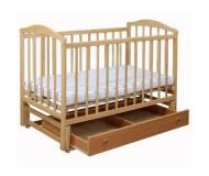 Детская кроватка Laska-M Чайка с маятником и ящиком