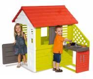 Детский игровой домик с кухней Smoby Floralie Nature UV