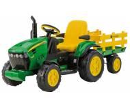 Детский трактор Peg-Perego  J.D. Ground Force с прицепом