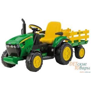 """Детский трактор Peg-Perego  JOHN DEER """"Ground Force"""" с прицепом  (OR 0047)"""