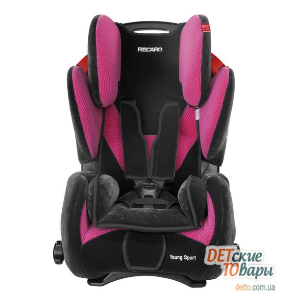 Детское автокресло группы 1-2-3 Recaro Young Sport в цвете Microfibre Pink